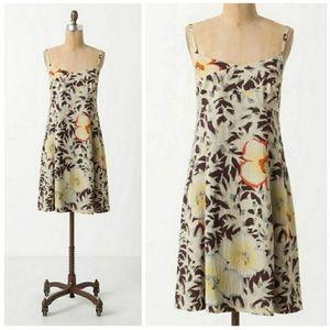 Anthro HD in Paris Fern + Flower Floral Slip Dress
